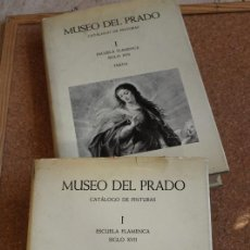 Libros de segunda mano: MUSEO DEL PRADO. CATÁLOGO DE PINTURAS. I. ESCUELA FLAMENCA. SIGLO XVII.1. LÁMINAS. 2.TEXTO. . Lote 149974070