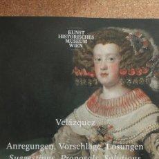 Libros de segunda mano: VELÁZQUEZ. ANREGUNGEN, VORSCHLÄGE, LÖSUNGEN. SUGGESTIONS, PROPOSALS, SOLUTIONS.. Lote 153331306