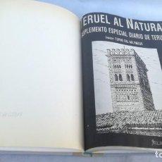 Libros de segunda mano: TERUEL AL NATURAL JULIO MONZON ROYO COLECCIÓN DIBUJOS PLUMILLA ENCUADERNADA DIARIO DE TERUEL ARAGON. Lote 153415918