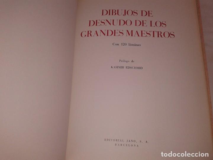 Libros de segunda mano: DIBUJOS DE DESNUDO DE LOS GRANDES MAESTROS, 120 LÁMINAS - Foto 7 - 153584018