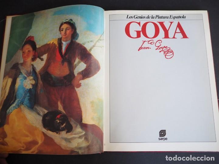 Libros de segunda mano: LOS GENIOS DE LA PINTURA ESPAÑOLA. GOYA. EDITORIAL SARPE. 1983. - Foto 3 - 154637790