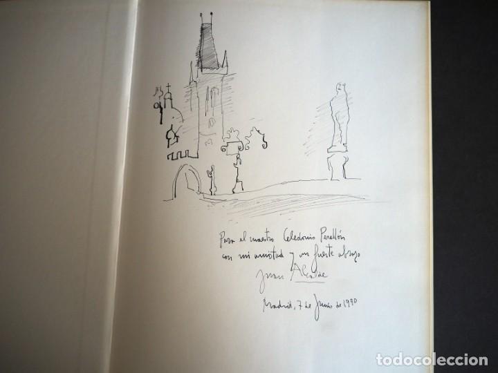 Libros de segunda mano: JUAN ALCALDE. Joaquin de la Puente. Editorial Laredo 1985. Con dedicatoria autógrafa y dibujo - Foto 2 - 155102750