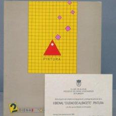 Libros de segunda mano: 2 BIENAL CIUDAD DE ALBACETE PINTURA. Lote 156364990