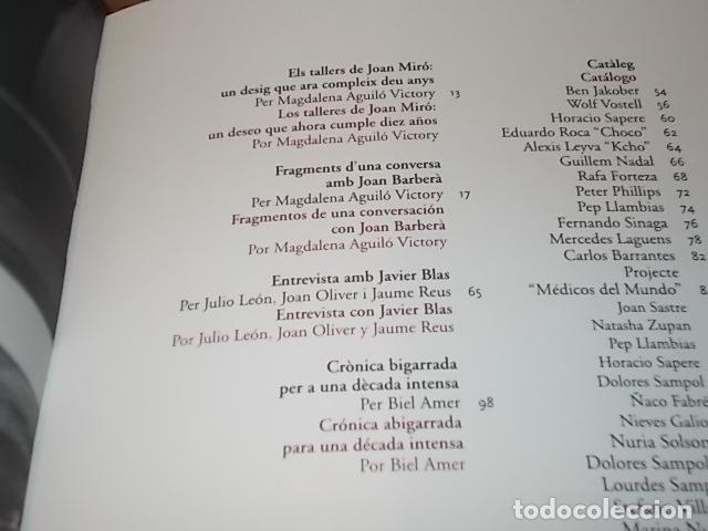 Libros de segunda mano: 10 ANYS TALLERS DOBRA GRÀFICA FUNDACIÓ PILAR I JOAN MIRÓ. CASAL SOLLERIC. AJUNTAMENT DE PALMA. 2004 - Foto 4 - 195507465