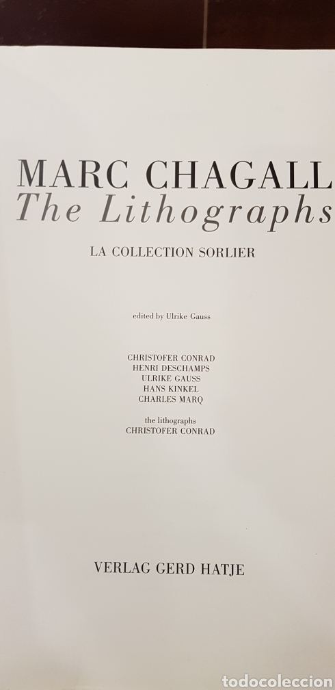 Libros de segunda mano: MARC GHAGALL,The litographs. - Foto 2 - 158218773