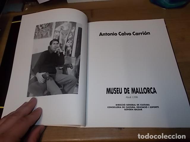 Libros de segunda mano: ANTONIO CALVO CARRIÓN. MUSEU DE MALLORCA. GOVERN BALEAR. 1ª EDICIÓ 1990. VEURE FOTOS. - Foto 3 - 159379686