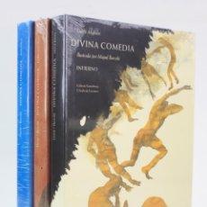 Libros de segunda mano: DIVINA COMEDIA, ILUSTRADA POR MIQUEL BARCELÓ, 3 TOMOS NUEVOS, GALAXIA GUTENBERG. 32X23CM. Lote 160937018