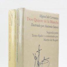 Libros de segunda mano: DON QUIJOTE DE LA MANCHA, ANTONIO SAURA, 2 TOMOS NUEVOS, 1987, CÍRCULO DE LECTORES, BARCELONA.. Lote 206878897