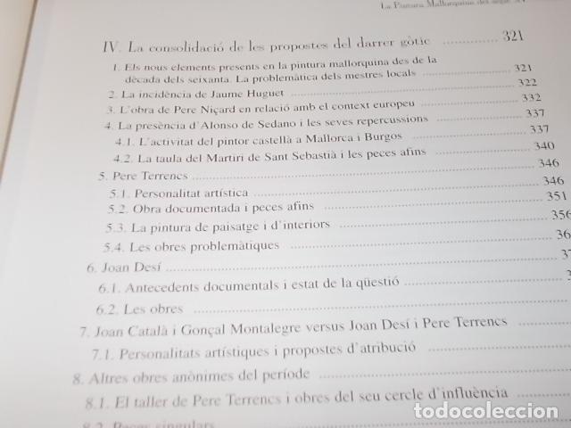 Libros de segunda mano: LA PINTURA MALLORQUINA DEL SEGLE XV. TINA SABATER . 1ª EDICIÓ 2002. MALLORCA - Foto 8 - 161447530