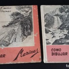 Libros de segunda mano: 2 LIBROS EMILIO FREIXA, COMO DIBUJAR MARNAS Y COMO DIBUJAR PAISAJES 1971 Y 1965. Lote 161561742