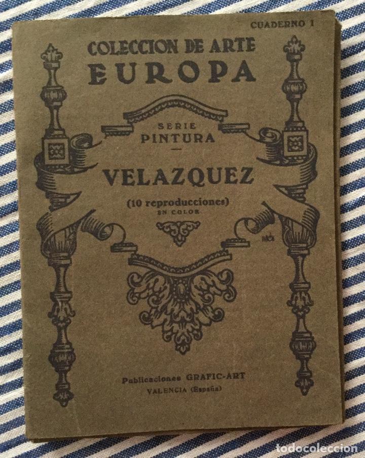 COLECCIÓN DE ARTE EUROPA CUADERNO 1 SERIE PINTURA VELÁZQUEZ (Libros de Segunda Mano - Bellas artes, ocio y coleccionismo - Pintura)