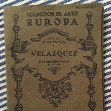 Libros de segunda mano: COLECCIÓN DE ARTE EUROPA CUADERNO 1 SERIE PINTURA VELÁZQUEZ. Lote 163315726