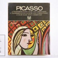 Libros de segunda mano: LIBRO CON 12 DIAPOSITIVAS - PICASSO - COLECCIONES DE ARTE. EL MUNDO DE LOS PINTORES - CODEX, 1969. Lote 167955608