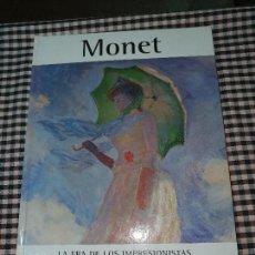 Libros de segunda mano: MONET LA ERA DE LOS IMPRESIONISTAS, 1, GLOBUS.. Lote 168323352