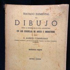 Libros de segunda mano: TRATADO ELEMENTAL DE DIBUJO, AÑO 1943, 213 PAGINAS, MIDE 21X16CMS. Lote 168744824