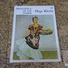 Libros de segunda mano: PINACOTECA DE LOS GENIOS, DIEGO RIVERA. Lote 170369516