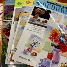 Libros de segunda mano: LOTE DE 6 LIBROS O CUADERNOS CON LECCIONES DE PINTURA, CONSEJOS Y TECNICAS... MUY INTERESANTES. Lote 171403972