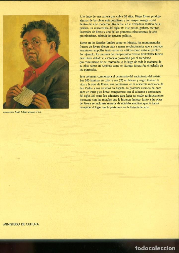 Libros de segunda mano: DIEGO RIVERA. RETROSPECTIVA. MINISTERIO DE CULTURA - Foto 2 - 171446394