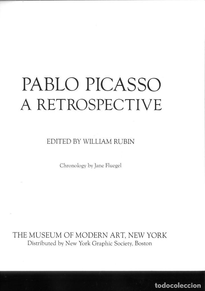 Libros de segunda mano: PABLO PICASSO A RETROSPECTIVE. William Rubin - Foto 2 - 171448662