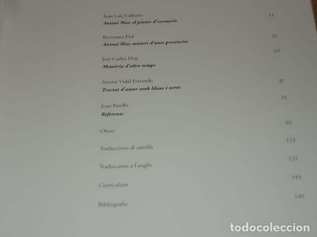 Libros de segunda mano: ANTONI MAS. OBRES 1983 - 2006 . CASAL SOLLERIC. AJUNTAMENT DE PALMA. 2006. MALLORCA . - Foto 4 - 171976787