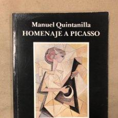 Libros de segunda mano: HOMENAJE A PICASSO. MANUEL QUINTANILLA. EDITA: BANCO DE BILBAO 1980. ILUSTRADO. Lote 172070532