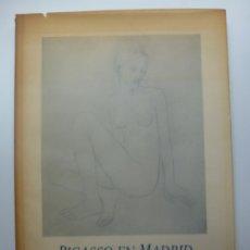 Libri di seconda mano: PICASSO EN MADRID. AÑO 1987. Lote 172277113