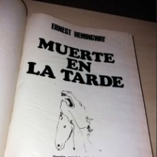 Libros de segunda mano: MUERTE EN LA TARDE DE ERNEST HEMINGWAY(FORMATO EXTRAORDINARIO) 1966 ILUSTRACIONES TAURINAS PICASSO. Lote 172590300