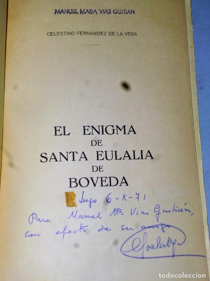 Libros de segunda mano: EL ENIGMA DE SANTA EULALIA DE BOVEDA - Foto 2 - 174535672