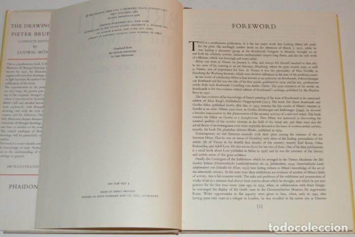 Libros de segunda mano: BRUEGEL - DRAWINGS - A COMPLETE EDITION - PHAIDON - CON DÍPTICOS DE EDICIÓN - Foto 3 - 174552739
