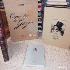 Libros de segunda mano: CAPRICHOS DE GOYA.EDICIÓN FACSÍMIL, NUMERADA Y LIMITADA. ESTUDIOS + 80 ESTAMPAS + ESTUCHE + CAJA. Lote 175045255