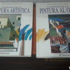 Libros de segunda mano: LOTE PARRAMÓN BASES PINTURA ARTÍSTICA Y AL ÓLEO. Lote 176009797
