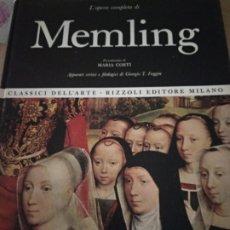Libros de segunda mano: LA OBRA PICTORICA COMPLETA DE MEMLING. Lote 176775677