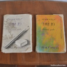 Libros de segunda mano: 1964 / RUDIMENTOS DE DIBUJO / PEREZ LOZANO / LIBRO PRIMERO Y SEGUNDO / COMPLETOS / 66 LAMINAS. Lote 176890728