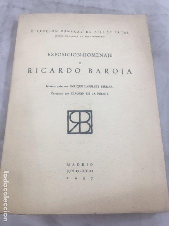 LAFUENTE FERRARI. EXPOSICIÓN-HOMENAJE A RICARDO BAROJA. 1957 (Libros de Segunda Mano - Bellas artes, ocio y coleccionismo - Pintura)