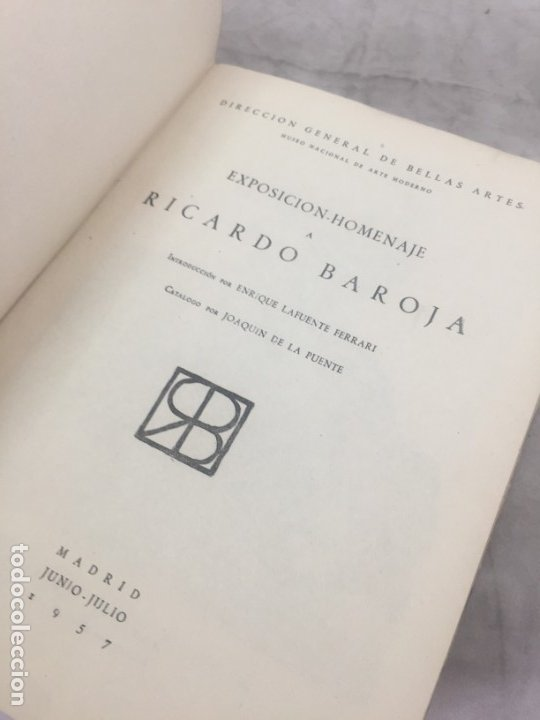 Libros de segunda mano: Lafuente Ferrari. Exposición-Homenaje a Ricardo Baroja. 1957 - Foto 3 - 177336189