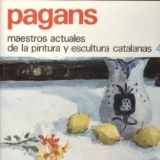 Libros de segunda mano: PAGANS MONTSALVATGE MAESTROS ACTUALES PINTURA Y ESCULTURA CATALANA ED. ENCICLOPEDIA VASCA 1979. Lote 178721535