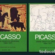 Libros de segunda mano: PICASSO: OBRA GRAFICA ORIGINAL 1904-1971. MADRID, MINISTERIO DE CULTURA 1981. 2 VOLS.. Lote 179171780