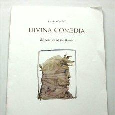 Libros de segunda mano: DIVINA COMEDIA. DANTE ALIGHIERI. ILUSTRADA POR MIQUEL BARCELÓ. CUADERNO CON 8 DIBUJOS. Lote 179186145
