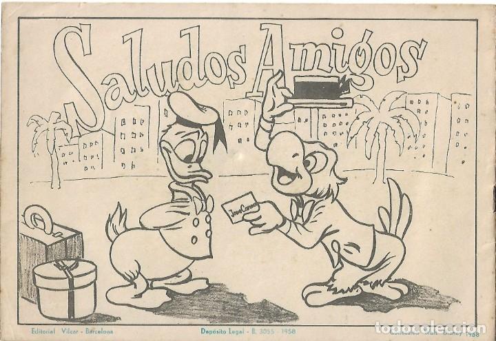 Libros de segunda mano: SALUDOS AMIGOS ALBUM PARA ILUMINAR- DISNEY/ VILCAR - 1958. LEER DESCRP. - Foto 3 - 179401942