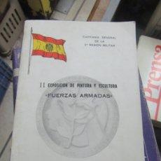 Libros de segunda mano: EXPOSICIÓN DE PINTURA Y ESCULTURA FUERZAS ARMADAS, VALENCIA MAYO 1982. L.14508-542. Lote 180171615