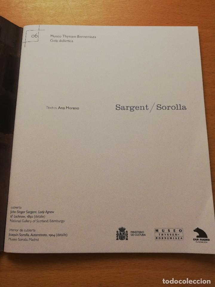 Libros de segunda mano: SARGENT / SOROLLA. MUSEO THYSEEN - BORNEMISZA. GUÍA DIDÁCTICA (TEXTOS: ANA MORENO) - Foto 2 - 180427398