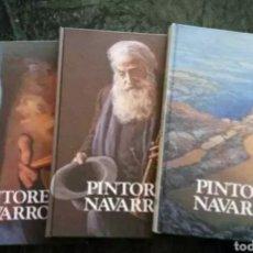 Libros de segunda mano: PINTORES NAVARROS. 3 TOMOS, COMPLETO. Lote 181988960