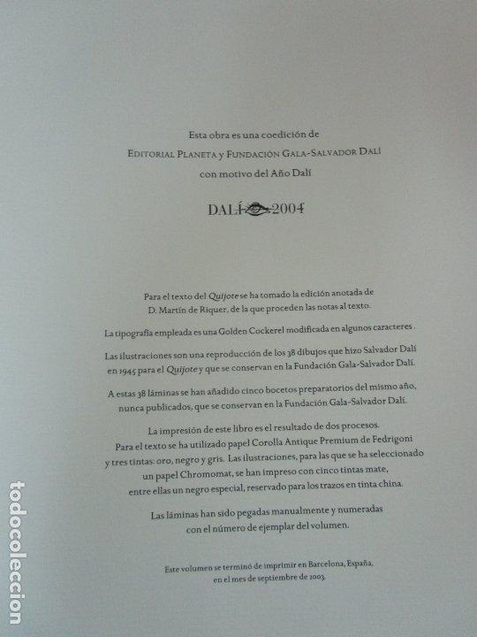 Libros de segunda mano: Don Quijote de la Mancha - 40 Ilustraciones Dalí - Ed Planeta - Fundación Gala Dalí - nº 663 de 998 - Foto 5 - 182145276