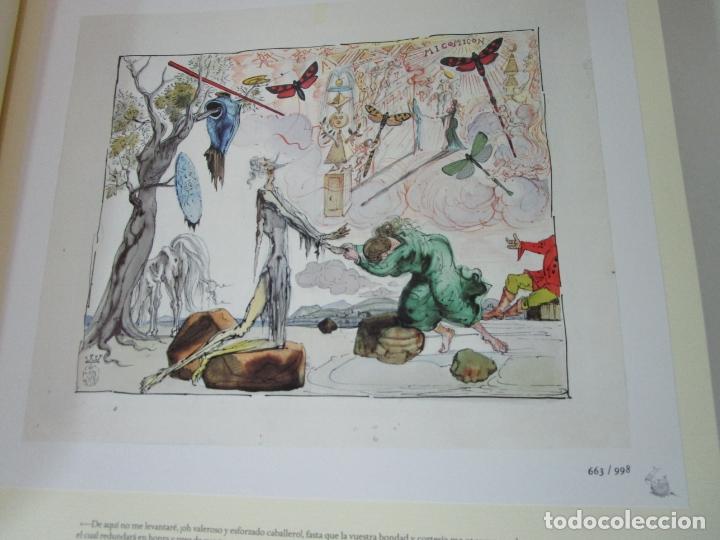 Libros de segunda mano: Don Quijote de la Mancha - 40 Ilustraciones Dalí - Ed Planeta - Fundación Gala Dalí - nº 663 de 998 - Foto 7 - 182145276