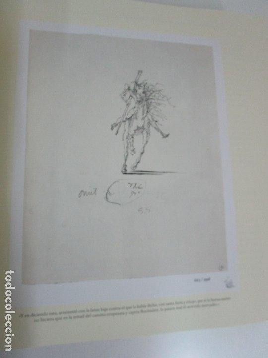 Libros de segunda mano: Don Quijote de la Mancha - 40 Ilustraciones Dalí - Ed Planeta - Fundación Gala Dalí - nº 663 de 998 - Foto 8 - 182145276