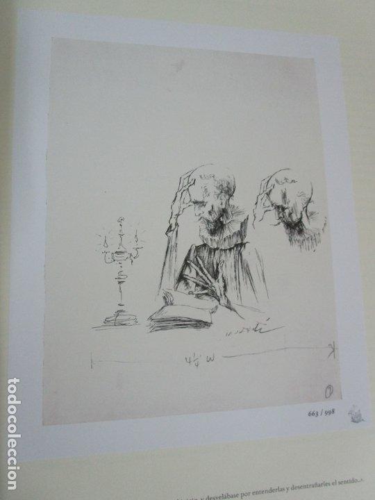Libros de segunda mano: Don Quijote de la Mancha - 40 Ilustraciones Dalí - Ed Planeta - Fundación Gala Dalí - nº 663 de 998 - Foto 9 - 182145276