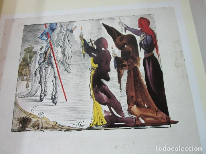 Libros de segunda mano: Don Quijote de la Mancha - 40 Ilustraciones Dalí - Ed Planeta - Fundación Gala Dalí - nº 663 de 998 - Foto 10 - 182145276