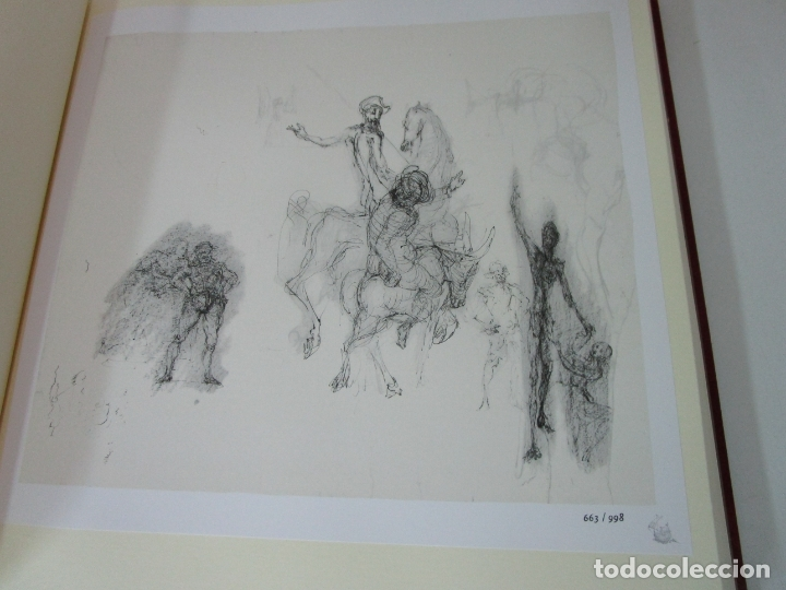 Libros de segunda mano: Don Quijote de la Mancha - 40 Ilustraciones Dalí - Ed Planeta - Fundación Gala Dalí - nº 663 de 998 - Foto 11 - 182145276
