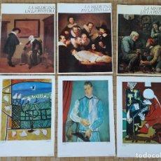 Libros de segunda mano: LA MEDICINA EN LA PINTURA - COLECCION 3 FASCICULOS ANTIBIOTICOS S.A. 1972 + 3 LAMINAS PICASSO. Lote 183039523