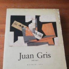 Libros de segunda mano: JUAN GRIS. 1887-1927. MADRID. 1985.. Lote 183378427